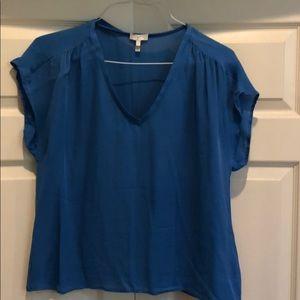 Blue Silk Joie Blouse